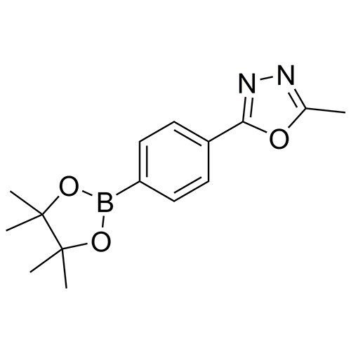 2-methyl-5-[4-(tetramethyl-1,3,2-dioxaborolan-2-yl)phenyl]-1,3,4-oxadiazole