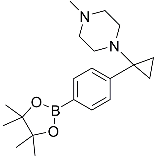 1-methyl-4-{1-[4-(tetramethyl-1,3,2-dioxaborolan-2-yl)phenyl]cyclopropyl}piperazine