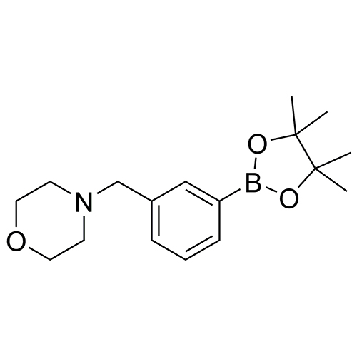 4-[[3-(4,4,5,5-tetramethyl-1,3,2-dioxaborolan-2-yl)phenyl]methyl]-morpholine