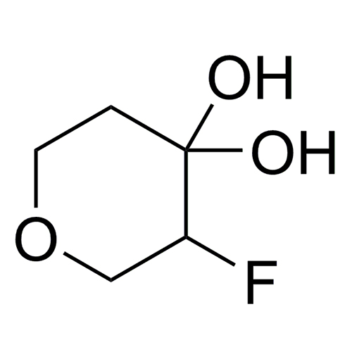 3-fluorooxane-4,4-diol