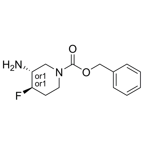 rel-benzyl (3r,4r)-3-amino-4-fluoropiperidine-1-carboxylate