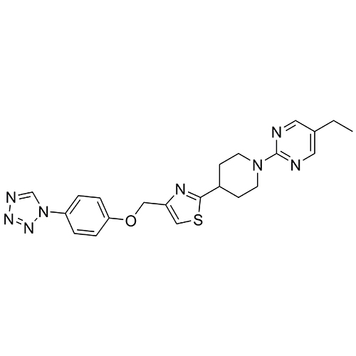 pyrimidine, 5-ethyl-2-[4-[4-[[4-(1h-tetrazol-1-yl)phenoxy]methyl]-2-thiazolyl]-1-piperidinyl]-