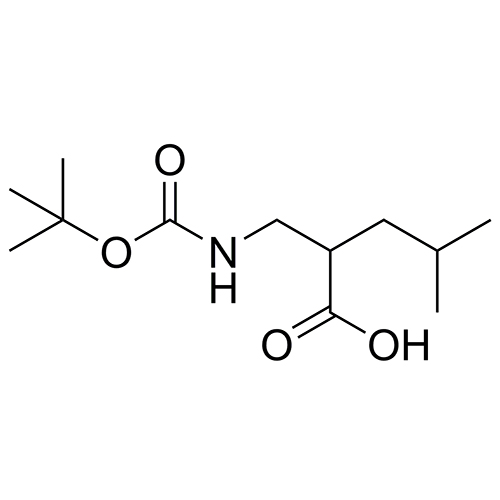 2-(((tert-butoxycarbonyl)amino)methyl)-4-methylpentanoic acid